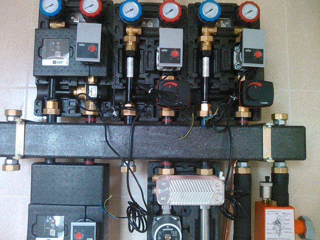 Отопление насосными модулями