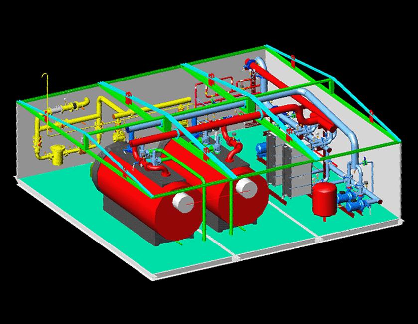 Схема блочно-модульной котельной на газе
