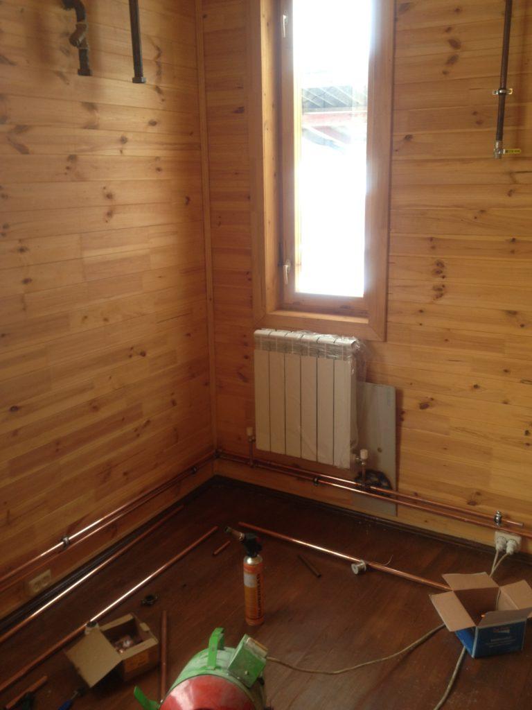 Как сделать отопление в деревянном доме 59