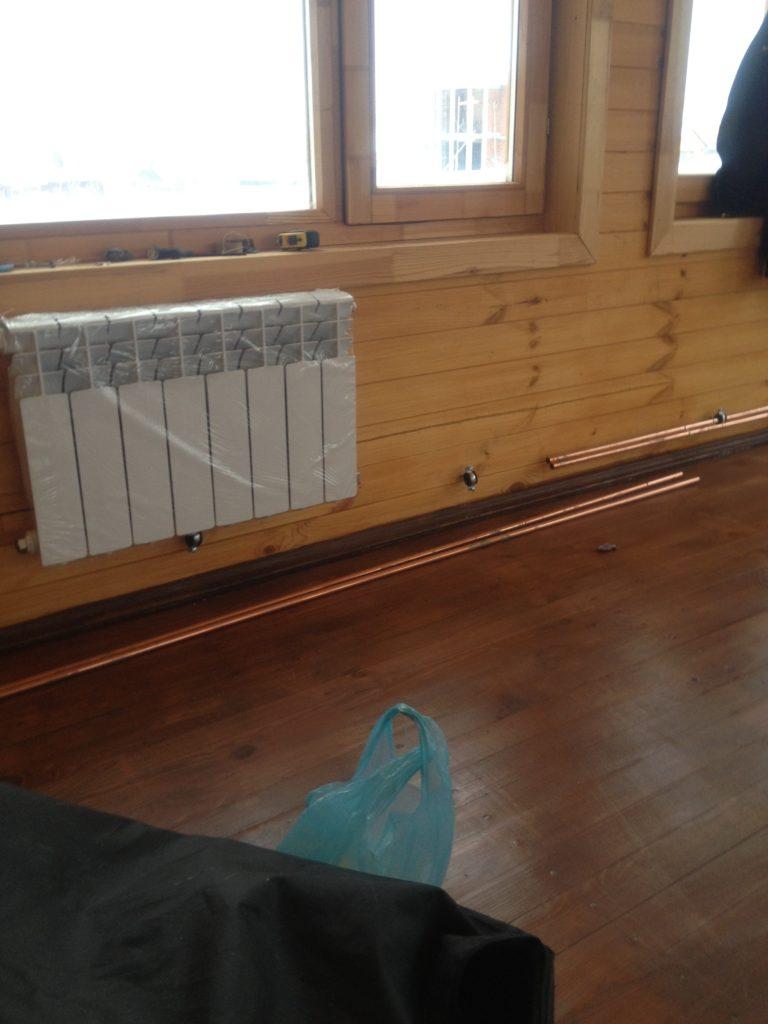 Отопление террасы в деревянном доме