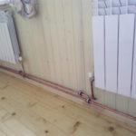 Монтаж двухтрубной системы отопления, радиаторы отопления