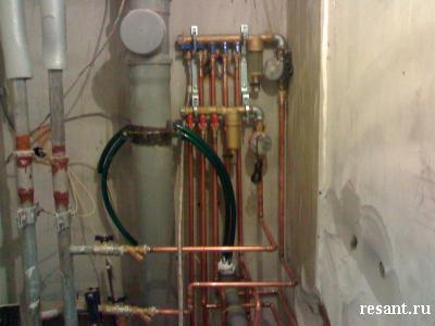 Медный коллектор – удобная эксплуатация системы отопления