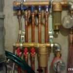 Установка коллектора, монтаж гребенки водоснабжения, медные трубы
