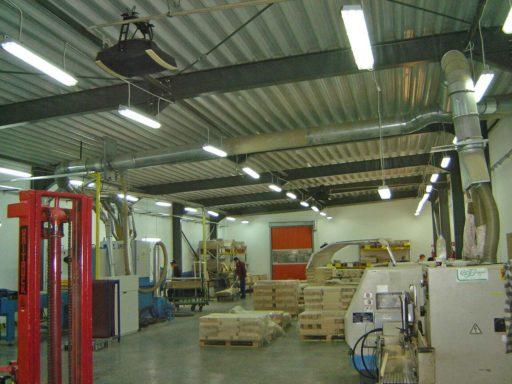 Лучистые системы отопления склада