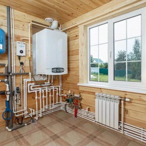 Газовое отопление полипропиленовыми трубами деревянного дома